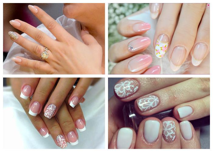 Самые популярные виды свадебного маникюра для коротких ногтей